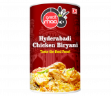Big Maa Ready To Eat Meal Hyderabadi Chicken Biryani Taste The Real Feast (350 G) (Pack of 1)