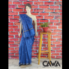 WACA Stylish & Trendy Saree With Chikan Embroidery which comes Inclusive of a Blouse Piece for Women's (Pack: Pack of 1) | (Color: Sapphire Blue)