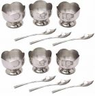 Ice Cream Desert Bowl Pudding Cup with Spoon Set (Pack of 12)