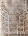 WACA Stylish & Fashionable Unstitched Elegant Khadi Silk Noori Kurta Piece with Chikankari Embroidery for Women (Pack of 1) | (Color: Brown)