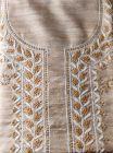 WACA Elegant, Stylish & Fashionable Unstitched Khadi Silk Noori Kurta Piece with Chikankari Embroidery for Women (Color: Brown) | (Pack of 1)