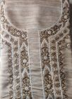 WACA Stylish & Fashionable Unstitched Sophisticated Khadi Silk Suit Piece With Chikankari Embroidery for Women (Pack of 1)   (Color: Brown)