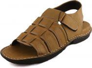 AUSTINJUSTIN Textured Upper Pattern Top Grain, , Casual, Sandals For Men (Color-Brown)