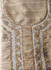WACA Stylish & Fashionable Bronze Unstitched Khadi Silk Noori Fancy Kurta Piece With Chikankari Embroidery for Women (Pack of 1) | (Color: Brown)