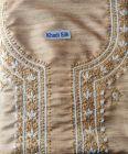 WACA Voguish, Stylish & Fashionable Unstitched Khadi Silk Noori Kurta Piece with Chikankari Embroidery Aari & Zari Work for Women (Pack of 1) | (Color: Brown)