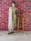 WACA Stylish & Trendy Full Sleeves Unstitched Khadi Silk Suit Piece With Chikankari Embroidery for Women's (Pack of 1)   (Color: Brown)