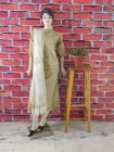 WACA Stylish & Trendy Full Sleeves Unstitched Khadi Silk Fabric Suit Piece with Chikankari Embroidery for Women's (Pack of 1)   (Color: Brown)
