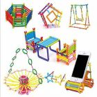 Magic Building Blocks, Colourful Plastic Building Stick Kits, Connector Set Innovative Shapes And Designs Can Be Made (Pack Of 7 Pcs)