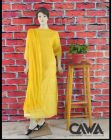 WACA Stylish & Trendy Unstitched Cotton Suit Piece with Chikankari Embroidery with it comes a Lavishing Dupatta for Women's (Pack: Pack of 1) | (Color: Canary Yellow)