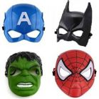 PTCMART Captain America, Batman, Hulk And Spiderman Shape Face Mask Party Mask(Multicolor, Pack of 4)