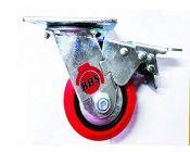 Bhs Heavy Duty Black Core Pu Plastic Swivel Rotation 360 Castor Wheels 125 X 50 Set (Package Contents: 1Pcs Single Wheel Puff Castor Wheels)