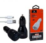 Dual USB Car Charger 3.1A Fast Dual Port For Tablet, Smartphone (Pack of 1)