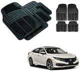 After Cars Black Carpet Floor/Foot 4D Rubber Mats for Honda Civic 2019 Car