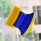 CYALERVA Magnetic Double Side Window Cleaner, Two-Sided Glass Cleaner Wiper & Brush with 2 Extra Cleaning Cotton Cleaner pad Washing Equipment Household (3-5 MM Glass- Multi)