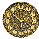 Antique wooden Decorative wall Hanging Clock ICW 003