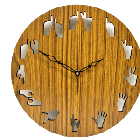 Antique Wooden Decorative Wall Hanging Clock ICW 005