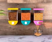 Wall Mounted Cornflakes, Cereal, Pulses, Beans, Oatmeal, Candy, Namkeen, Dry Food Storage Box, Tank