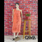 WACA Stylish & Trendy Unstitched Cotton Suit Piece With Chikankari Embroidery Along with it comes a Lavishing Dupatta for Women's (Pack: Pack of 1)   (Color: Creamsicle Orange)