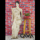 WACA Stylish & Modish Saree with Chikan Embroidery which Comes Inclusive of a Blouse Piece for Women's (Pack: Pack of 1)   (Color: Creme)