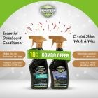 Crystal Shine Wash and Wax Spray & Essential Dashboard Conditioner Combo 2 Packs (250 ml)