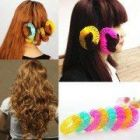 Homeoculture Fashion Lucky Donuts Curly Curls Roller Styling Tools Hair Accessories for Women (Pack Of 8)