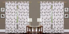 FABRIC EMPIRE Polyester With unique Designer 4 Piece Pearl Print Door Curtains