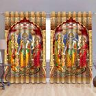 Fabric Empire Polyester Blend Lord Ram Sita Lakhan Printed Designer Door Curtains (Pack of 2)