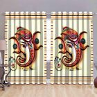 Fabric Empire Polyester Blend Lord Ganesha Printed Designer Door Curtains (Pack of 2)