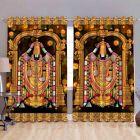 Fabric Empire Polyester Blend Lord Vanketeswara Printed Designer Door Curtains (Pack of 2)