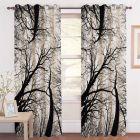 Fabric Empire Polyester Blend Digital TreePrinted Designer Door Curtains (Pack of 2)