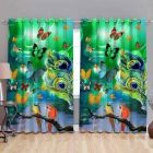 Fabric Empire Polyester Blend Butterfly Printed Designer Door Curtains (Pack of 2)