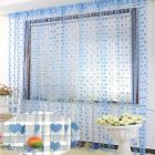 Fashome Polyester Fabric SolidCurtain Eyelet Fitting Ideal for Door 210cm x 120cm (Sky Blue) | (Pack of 2)