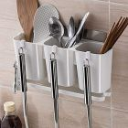 Cyalerva Plastic Cutlery Holder, Self Adhesive Wall Mounted For Kitchen