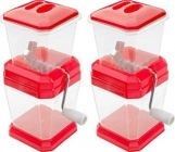 Combo of Fruit and Vegetable Cutter|Chopper Made from Virgin Plastic & stainless steel Blade (Pack of 2)