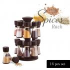 Plastic Revolving Spice Rack Set, 200ml Each (Set of 16)