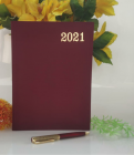 High-Quality Paper Stylish 2021 Year Diary Record Your Travel & Note (Maroon) (Pack of 1)