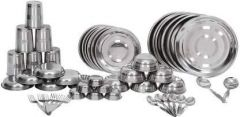 Apro High-Quality Stainless Steel Dinner Set (Silver) (Pack of 50)