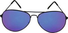 Trendy & Fashinable Mirrored, UV Protection, Gradient Aviator Sunglasses For Unisex  (Blue) (Pack Of 1)