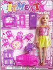 Doll With Furniture Kit Develops Imagination And Thinking Skills (Pack Of 1)