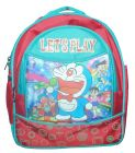 BAGO Let's Play Doraemon School Bag For Boy's & Kid's (Multi-Color) (Pack of 1)