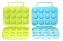 RFL 12 Egg Holder Plastic Container For Kitchen (Multicolor)
