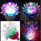 Exclusive Stylish & Best 360 Degree Rotating Crystal Lotus LED Bulb, LED Disco Light for Party & Function Decoration (Pack of 1)