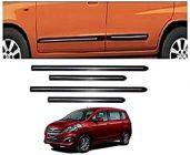 After Cars Maruti Suzuki Ertiga Old Car Black Side Beading with Chrome Line Set of 4