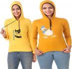 Women's Full Sleeve Solid Sweatshirt Pack of 2 (Yellow & Mustard)