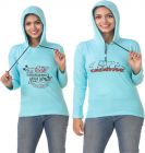 Women's Full Sleeve Solid Sweatshirt Pack of 2 (Blue & Blue)