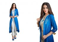 Bagrecha Creations Designer 3 Piece Dress - Koti, Inner, Leggings | Party Wear Blue Dress For Girls & Women's