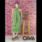 WACA Stylish & Trendy Unstitched Cotton Suit Piece With Chikankari Embroidery with it comes a Lavishing Dupatta with Cirosia for Women's (Pack: Pack of 1)   (Color: Fern Green)