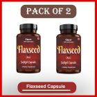Cipzer Natural Flaxseed Softgel 60 Capsules for Improves Skin and Hair Texture (Pack of 2)