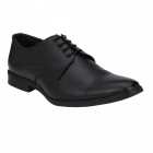 Ramoz Comfortable and Durable PU Genuine Leather Formal Shoes For Men (Black)