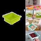 Krivish Plastic Shelf Drawer Slide Rack Container Fridge Storage Organizer Holder (Multicolor)